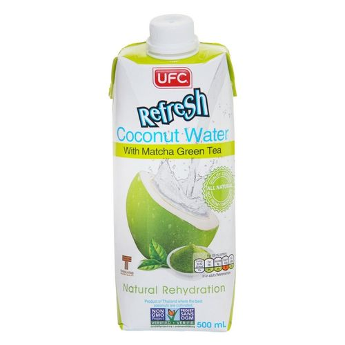 UFC Refresh Coconut Water mit Matcha Grüntee 500ml
