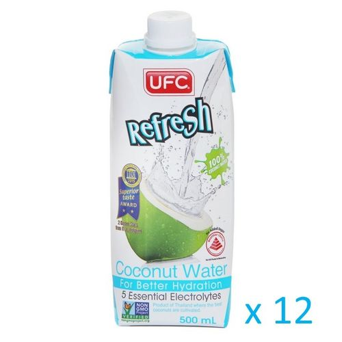 UFC Refresh Coconut Water 100%, Carton 12x500ml