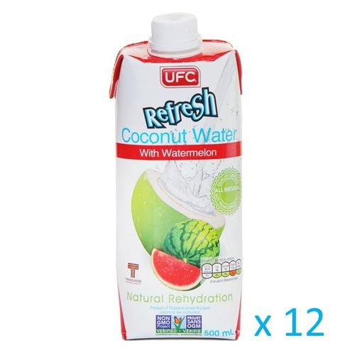 UFC Refresh Coconut Water mit Wassermelone, Carton 12x500ml