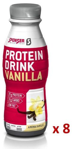 Sponser Low Carb Protein Drink Vanille, Carton 8x330ml