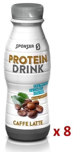 Sponser Low Carb Protein Drink Caffe Latte, Carton 8x330ml