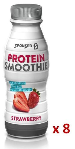 Sponser Low Carb Protein Smoothie Erdbeer, Carton 8x330ml